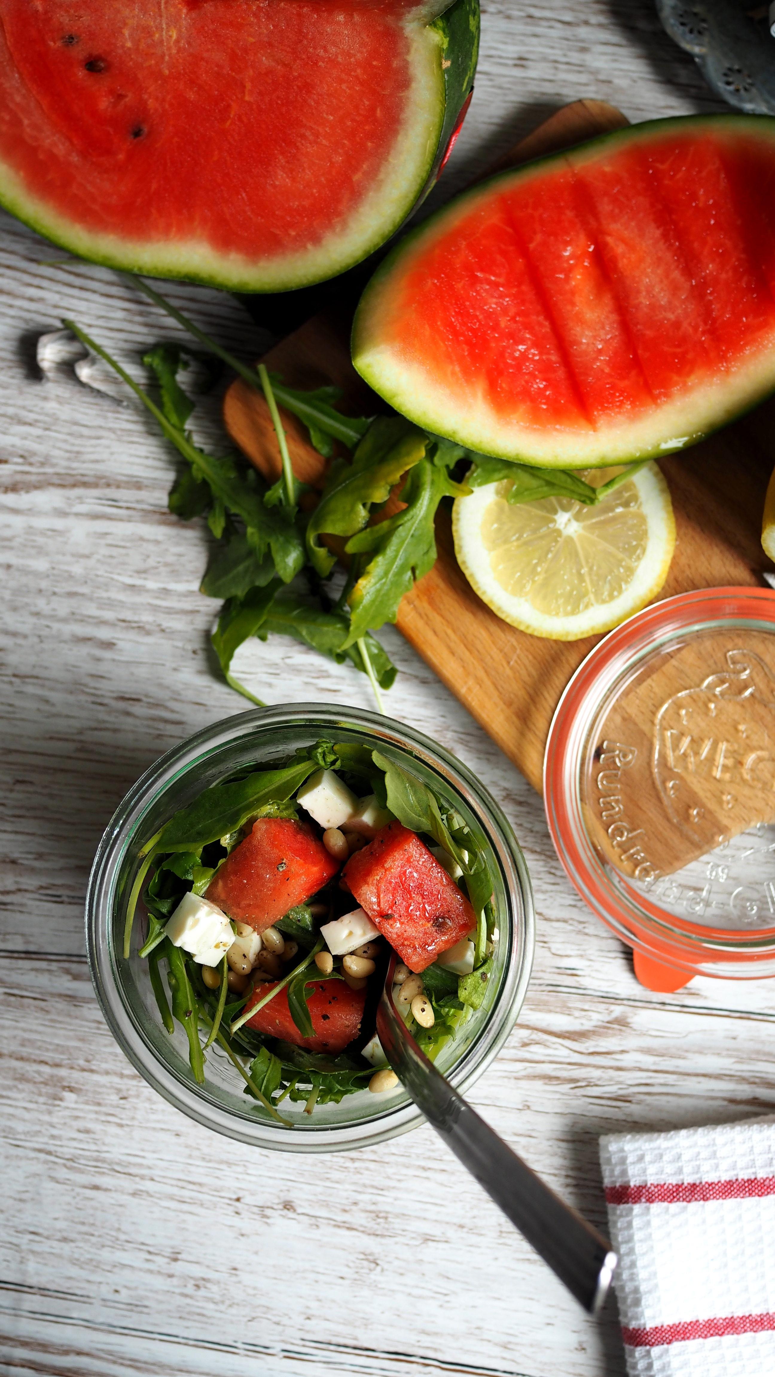 Rucola-Melonen Salat