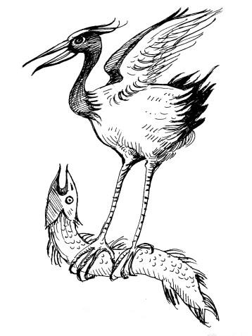 bird and fish tattoo