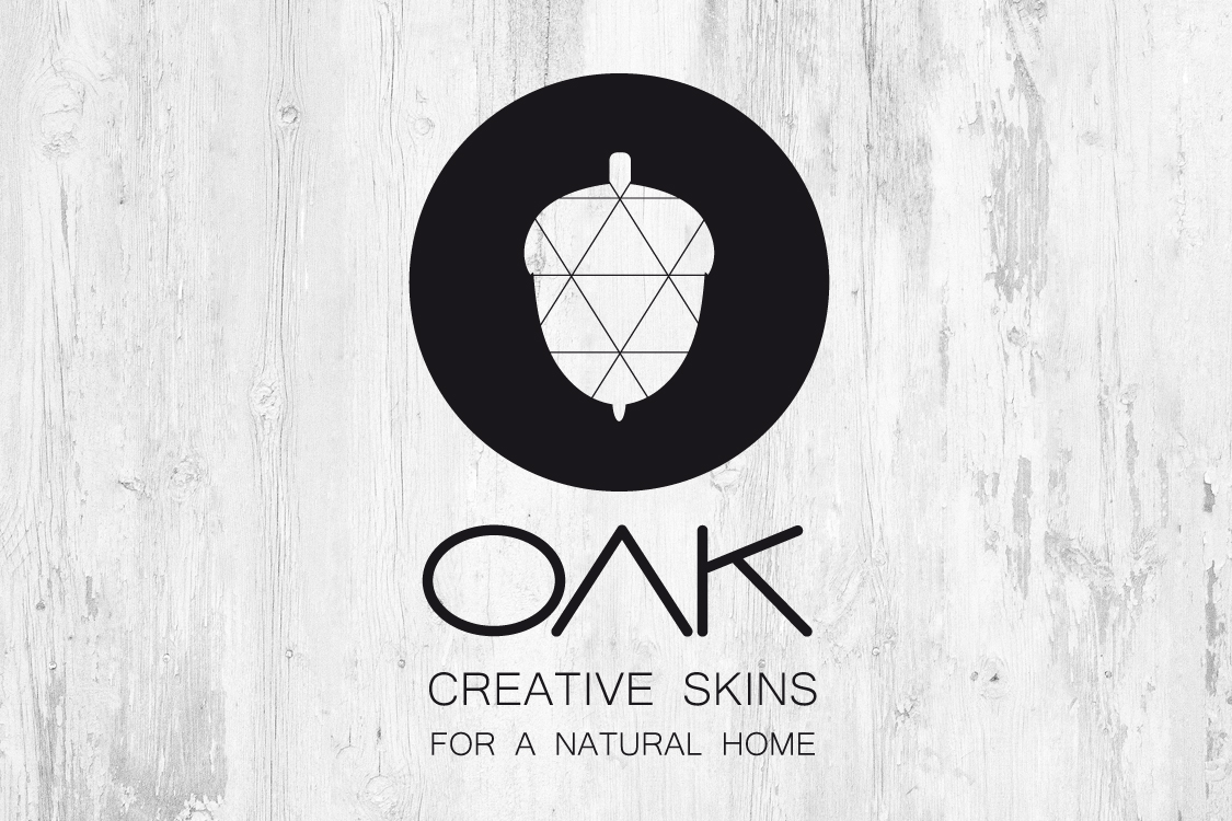 OAK   Creative Skins for a Natural Home   Logo   Brand Identity Concept  Naming and Logo  for my other personal project related to Interior  Design and Furnishing with minimalist customized Patterns