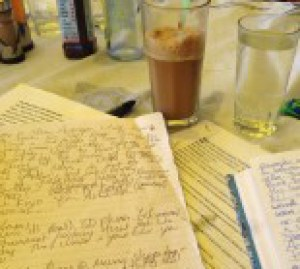 pixelated frappe and notes