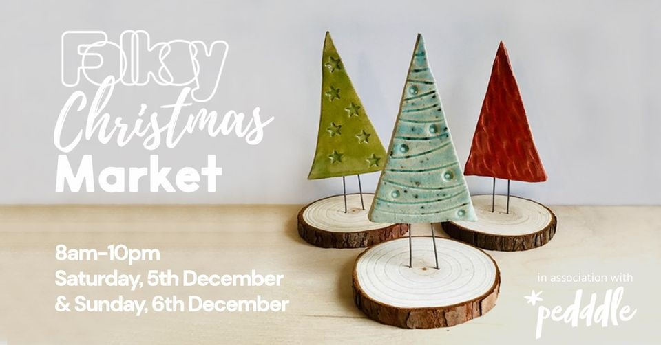 Folksy x Pedddle Online Christmas market banner, 5th and 6th December 2020
