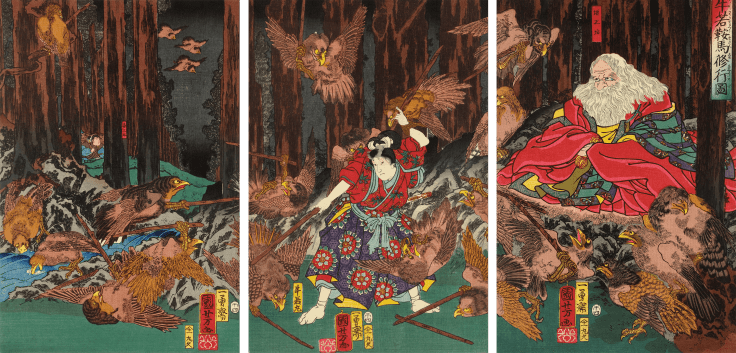 utagawa-kuniyoshi-prince-yoshitsune-learning-the-art-of-swordsmanship-1858-trivium-art-history