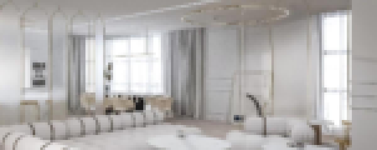 Salon nowoczesny5 1 - Aparthotel w stylu nowoczesnym: biel, czerń i ciemne drewno - Warszawa