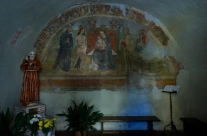 Affile - Affresco Chiesa di San Rocco