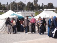 WSF is a space of tents; Manar Univ; 27 March; photo by Frances Hasso