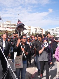 Anarchists march against capitalism and the WSF at the WSF in Tunis; 29 March 2013; photograph by Frances Hasso