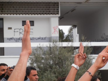 insisting that the revolution will continue; 30 March 2013; photo by Frances Hasso