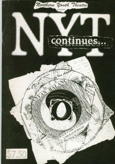 The cover of a magazine called NYT Cont... put together by members of NYT and edited by Frances.