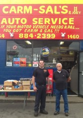 """Carm & Sal's Auto Service, 1460 Niagara St. """"Across the street"""" neighbors from Fred who have seen the changes for 40 years!"""