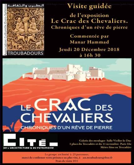 """Exposition """"Le Crac des Chevaliers"""" commentée par Manar Hammad"""