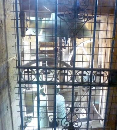 Some of St. Vincent's 54 bells