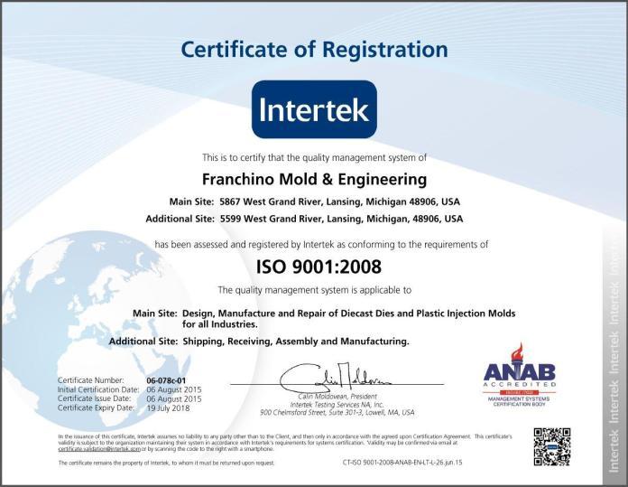 Franchino ISO 9001