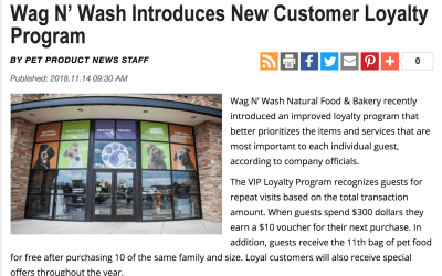 Pet Product News Features New Wag N' Wash Loyalty Program