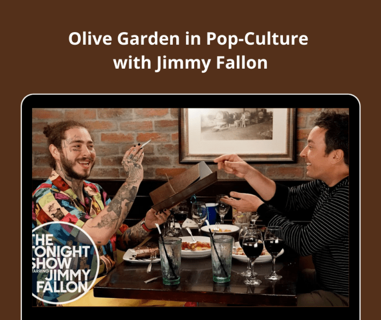Olive Garden in Pop-Culture with Jimmy Fallon.