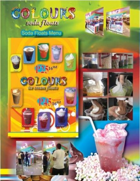 colours soda floats menu