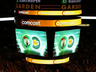 TD Garden scoreboard, Celtics