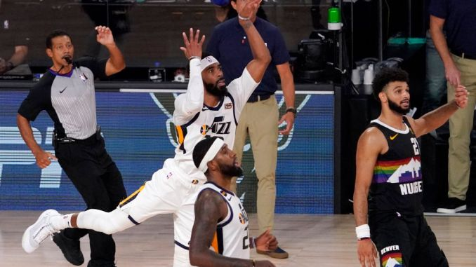 Mike Conley throws up shot late in Game 7.