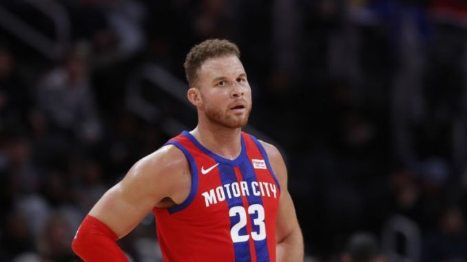 Blake Griffin playing for the Pistons