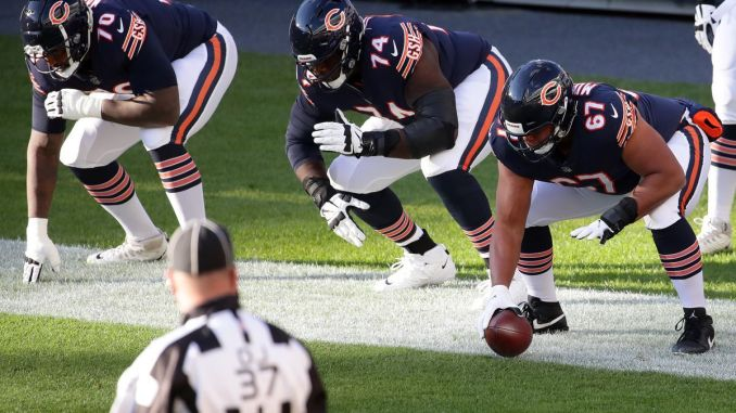 Chicago Bears line up in 2020