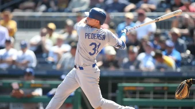 Joc Pederson swings