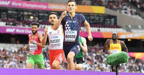 Pierre Ambroise Bosse, Medalla de Oro en 800 m.