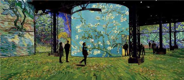 Simulation Van Gogh, la nuit étoilée © Culturespaces / Gianfranco Iannuzzi