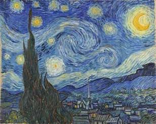 Vincent Van Gogh, La nuit étoilée, juin 1889, huile sur toile, 73,7 x 92,1 cm Museum of Modern Art, New York © Bridgeman Images