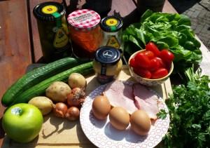 Ingrediënten voor de huzarensalade