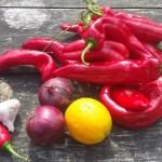 Rode paprika's