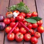 Verse overrijpe tomaten