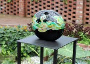 Nikolaj Christensen crafted vases in the Sunken Garden