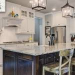 White Cabinets Blend With Any Color Countertop Best Color For Counters 2018