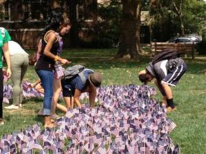 9 11 flags at LaSalle