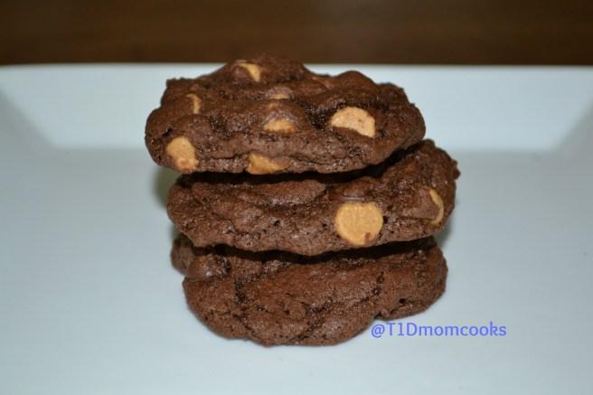 Double chocolate-peanut butter cookies by Barb Szyszkiewicz for cookandcount.wordpress.com