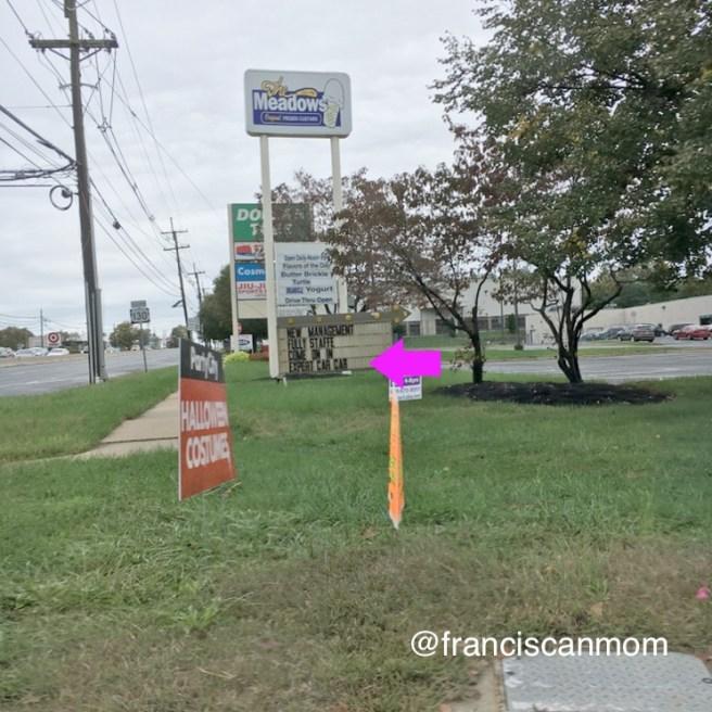 """""""Fun Friday: Signs"""" by Barb Szyszkiewicz (Franciscanmom.com)"""