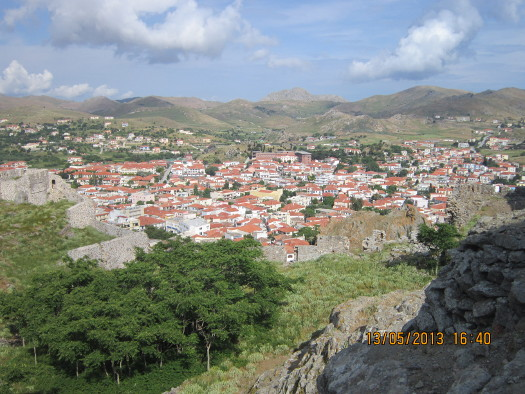 Mirina, Greece, from the castle hights