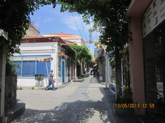 Commercial Street, Mirina, Limnos, Greece