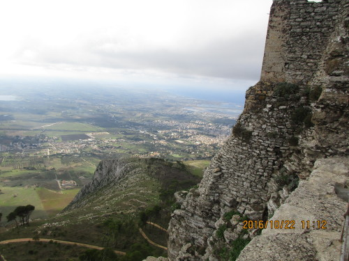 View from Erice Castle, Sicily