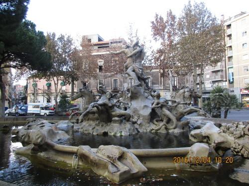 Imaginative fountain, Catania, Sicily