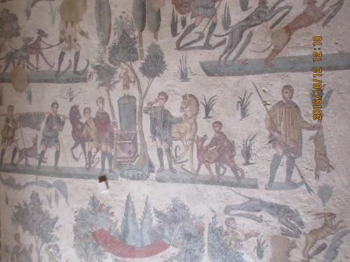Elaborate Moasics, Villa Romana di Casala