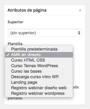 atributos de pagina