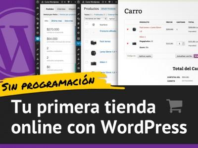 Tu primera tienda online con WordPress y sin programación