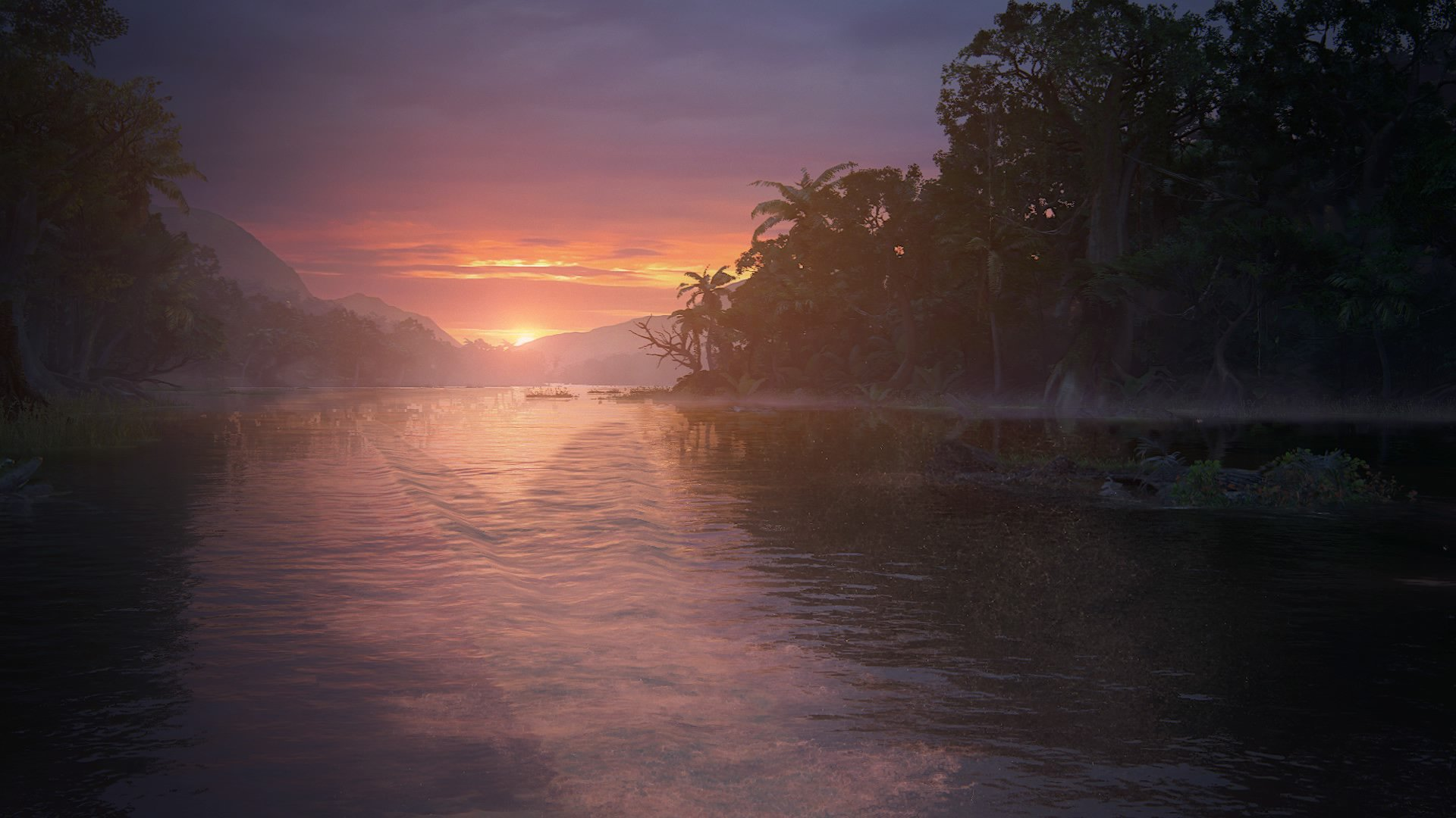 River at the beginning of The Lost Legacy