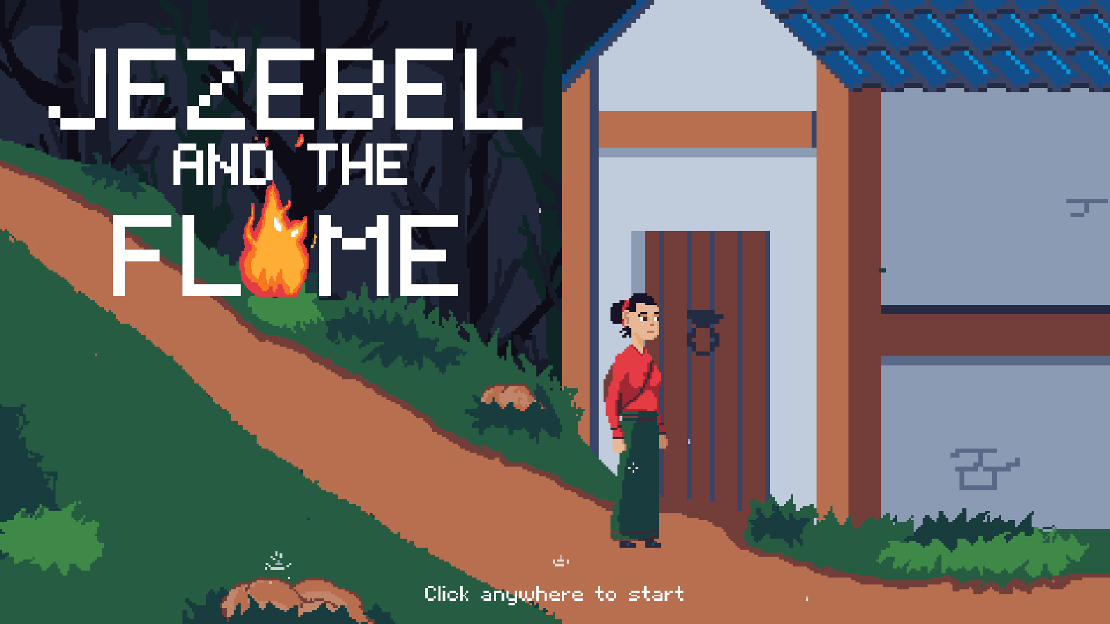 Jezebel and the Flame title screen