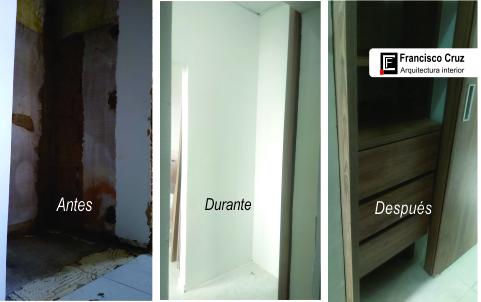 Remodelación de closet pequeño