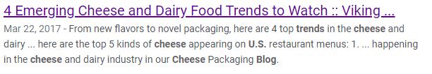 cheese trend search snippet
