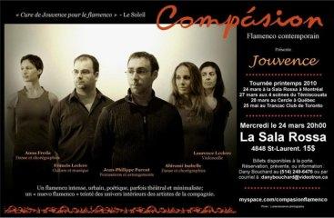 Affiche de la tournée 2010 (Compasion flamenco).