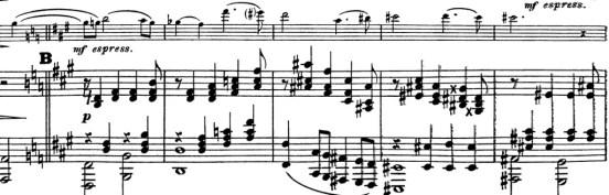 2ème theme issu du thème cyclique du quintette de César Franck.