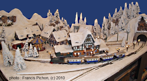 maquette village noel