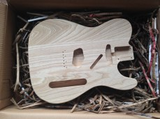 Brand new 3-pc swamp ash body (front)